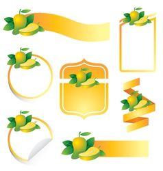 Mango Label Set vector image