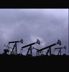 mining equipment gas the background of the cloudy vector image