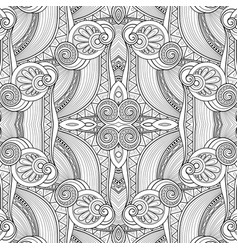 monochrome seamless abstract tribal pattern with vector image