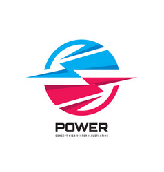 power energy lightning - concept business logo vector image
