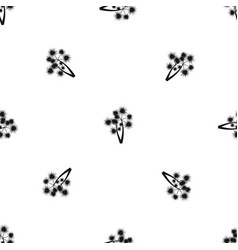 Prickly palm pattern seamless black vector