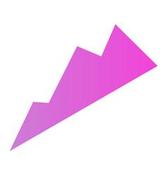 purple graph icon isometric style vector image