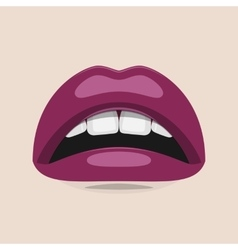 Purple Lips Beauty vector image
