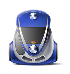 Realistic green vacuum cleaner body 3d icon vector