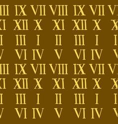 roman number alphabet symbol sign vector image