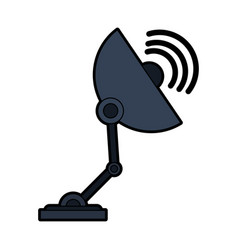 Satellite dish telecommunications related icon vector