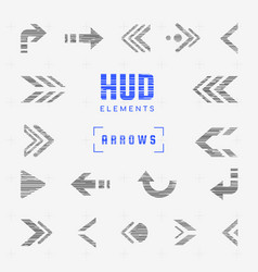 set arrows pointers directions navigation vector image