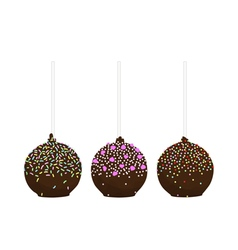 Set of isolated cake pop vector image