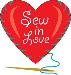 Sew In Love vector