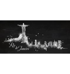Silhouette chalk Rio de Janeiro vector image