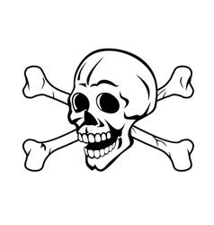 Skull with crossed bones vector image