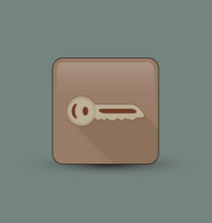Small key icon vector