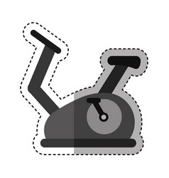 spinning bike isolated icon vector image