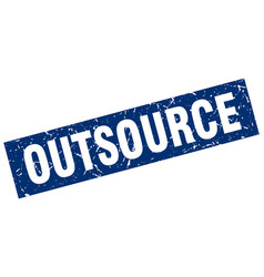 square grunge blue outsource stamp vector image
