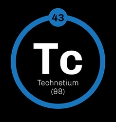 Technetium chemical element vector