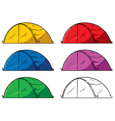 tent on white vector image
