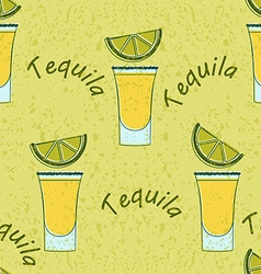 tequila shot seamless pattern vector image