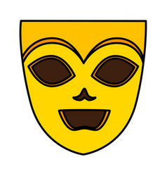 theater and carnival mask vector image