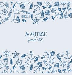 vintage maritime background vector image