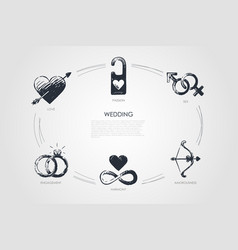 wedding - love sex engagement harmony vector image