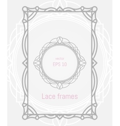 Decorative frames and borders set for vector image
