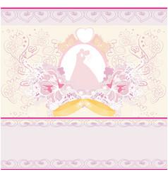 golden wedding rings and wedding couple - vector image