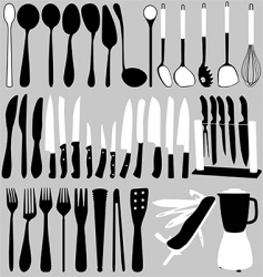 household objects set vector image vector image