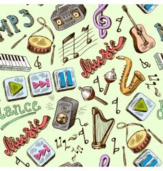 music seamless vector image