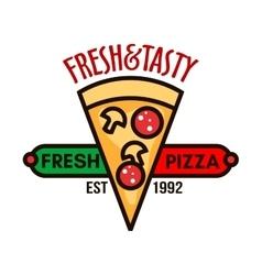 Original italian pizza badge for pizzeria design vector image vector image