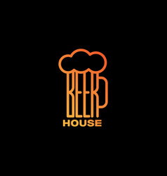 beer house logo vector image