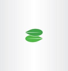 green leaf letter z eco logo bio icon vector image