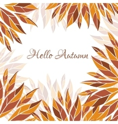 Hello autumn card vector image