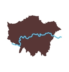 London map city icon graphic vector
