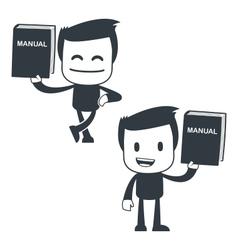 manual icon man vector image vector image