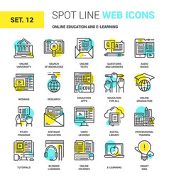 online education and e-learning vector image