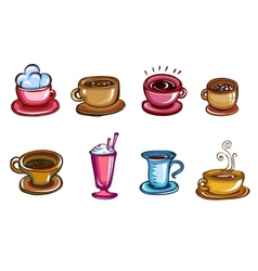 Types of coffee vector image