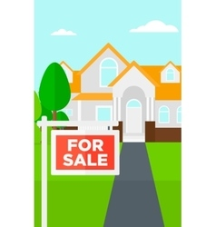 Background of house with for sale sign vector image