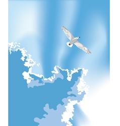 Bird in the summer sky vector image vector image