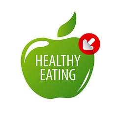 logo green apple for a healthy diet vector image