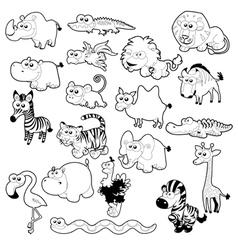 Savannah animal family vector image