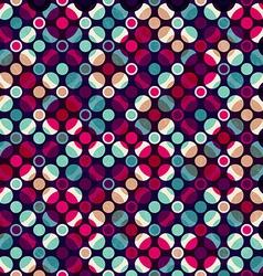 bright mosaic circle seamless pattern vector image vector image