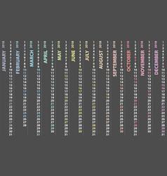 calendar 2018 with vertical design vector image