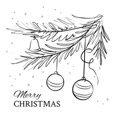 Christmas evergreen spruce tree vector image vector image