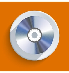 disc icon on orange background Eps10 vector image vector image