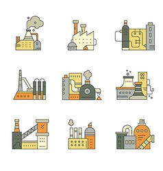 Factory Buildings vector image