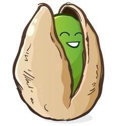 Pistachio Cartoon Character vector image vector image