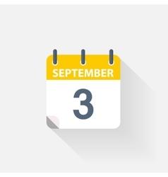 3 september calendar icon vector