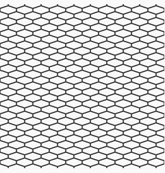 Abstract seamless pattern of elongated hexagons vector