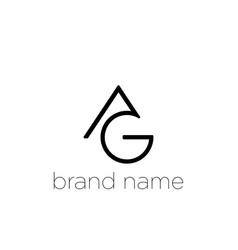 Ag letter logo design creative modern a g letters vector