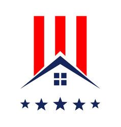 American property or veteran real estate logo icon vector